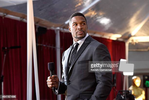 TV personality Michael Strahan attends the 87th Annual Academy Awards at Hollywood Highland Center on February 22 2015 in Hollywood California