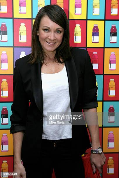 TV personality Michelle Bridges arrives at the GLACÉAU vitaminwater hearts russell james event at Customs House on July 6 2009 in Sydney Australia