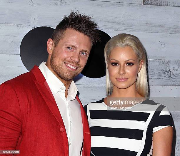 TV personality Mike 'The Miz' Mizanin and wife Maryse Ouellet attend go90 Sneak Peek at the Wallis Annenberg Center for the Performing Arts on...