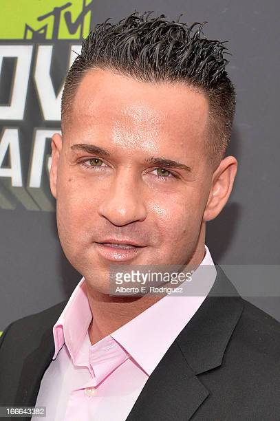 TV personality Mike 'The Situation' Sorrentino arrives at the 2013 MTV Movie Awards at Sony Pictures Studios on April 14 2013 in Culver City...