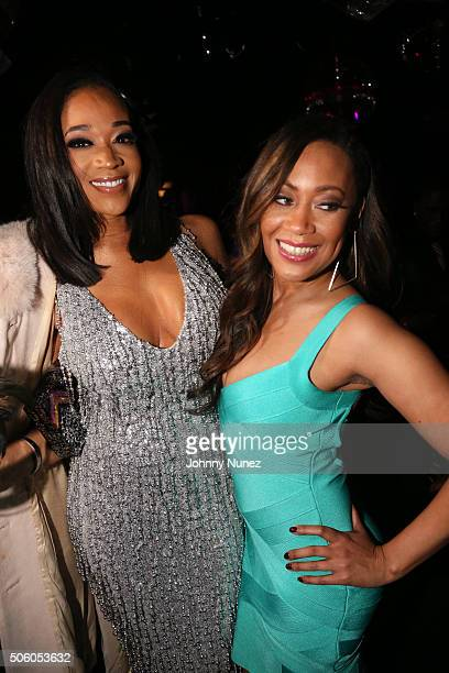 TV personality Mimi Faust and singersongwriter Farrah Franklin celebrate Mimi Faust's birthday on January 20 in New York City