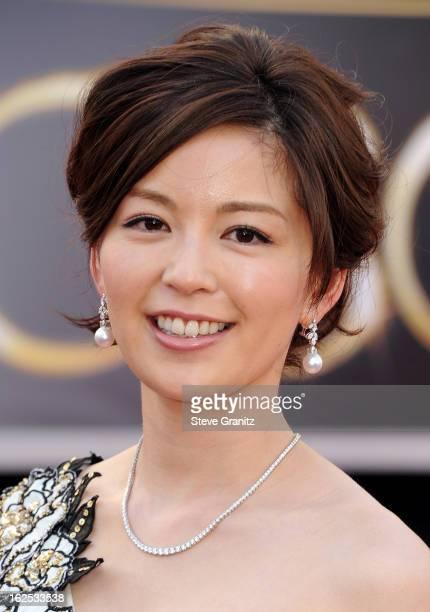 Personality Minako Nakano arrives at the Oscars at Hollywood & Highland Center on February 24, 2013 in Hollywood, California.
