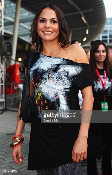 Personality Miriama Smith arrives at the Vodafone New Zealand Music Awards 2008 at Vector Arena on October 8 2008 in Auckland New Zealand The 2008...