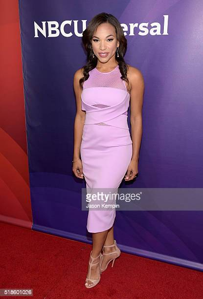 TV personality MJ Acosta attends the 2016 NBCUniversal Summer Press Day at Four Seasons Hotel Westlake Village on April 1 2016 in Westlake Village...