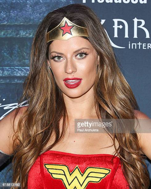 TV Personality / Model Hannah Stocking attends Maxim Magazine's annual Halloween party on October 22 2016 in Los Angeles California