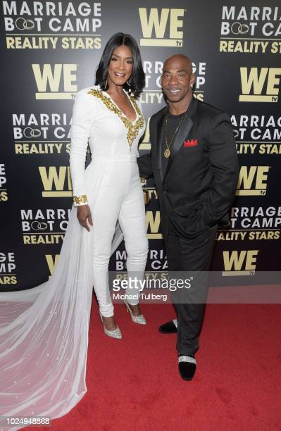 TV personality Momma Dee and Ernest Bryant attend WE TV's celebration of the return of Marriage Boot Camp Reality Stars at HYDE Sunset Kitchen...