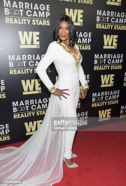 TV personality Momma Dee attends WE TV's celebration of the return of Marriage Boot Camp Reality Stars at HYDE Sunset Kitchen Cocktails on August 28...