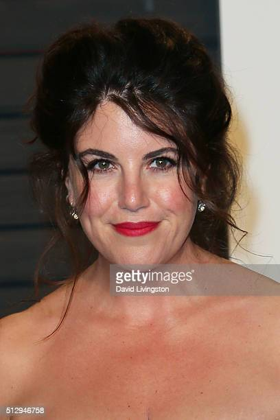 TV personality Monica Lewinsky arrives at the 2016 Vanity Fair Oscar Party Hosted by Graydon Carter at the Wallis Annenberg Center for the Performing...