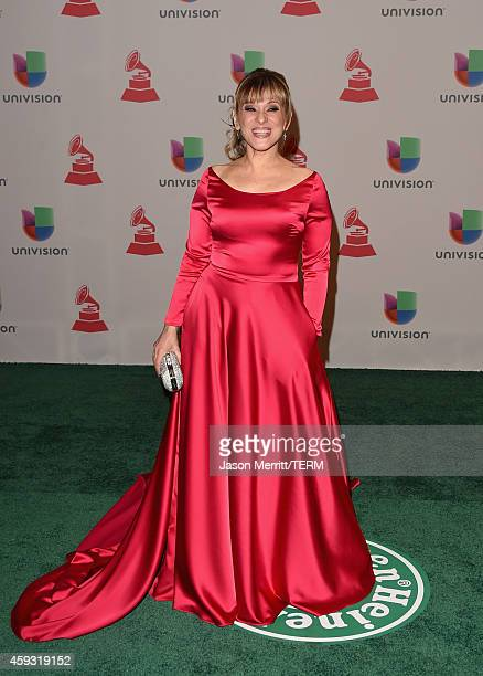 TV personality Monica Navarro attends the 15th Annual Latin GRAMMY Awards at the MGM Grand Garden Arena on November 20 2014 in Las Vegas Nevada