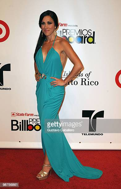 TV personality Monica Noguera attends the 2010 Billboard Latin Music Awards at Coliseo de Puerto Rico José Miguel Agrelot on April 29 2010 in San...
