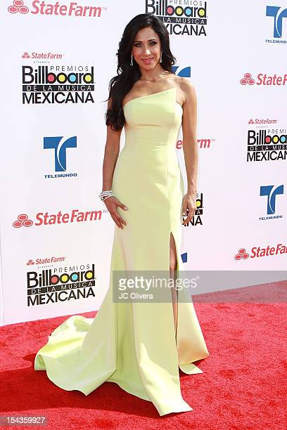 Personality Monica Noguera attends the 2012 Billboard Mexican Music Awards at The Shrine Auditorium on October 18 2012 in Los Angeles California
