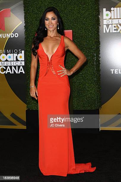 Personality Monica Noguera poses in the press room at The 2013 Billboard Mexican Music Awards at Dolby Theatre on October 9 2013 in Hollywood...