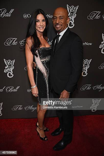 Personality Montel Williams and Tara Fowler attend Angel Ball 2014 hosted by Gabrielle's Angel Foundation at Cipriani Wall Street on October 20 2014...