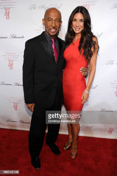 Personality Montel Williams and Tara Fowler attend Gabrielle's Angel Foundation Hosts Angel Ball 2013 at Cipriani Wall Street on October 29 2013 in...