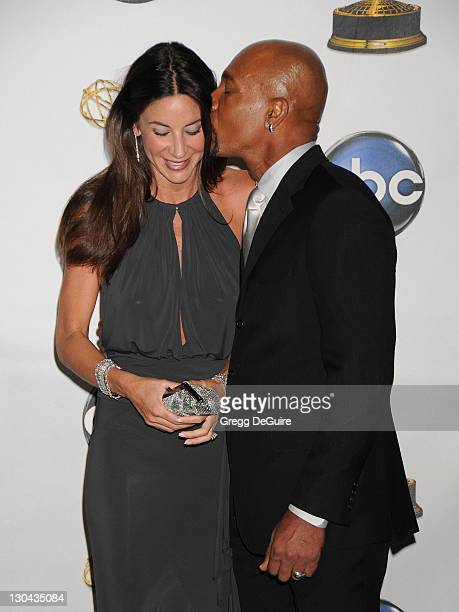 TV personality Montel Williams and wife Tara Fowler in the press room at the 35th Annual Daytime Emmy Awards at the Kodak Theatre on June 20 2008 in...