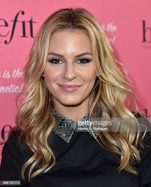 TV personality Morgan Stewart attends Benefit Cosmetic's 1st Annual National Wing Women Weekend VIP Launch at Space 15 Twenty on September 26 2014 in...