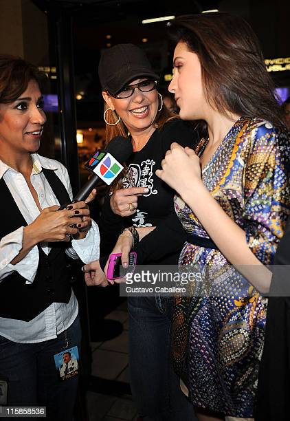 TV Personality Myrka Dellanos and daughter Alexa Dellanos attends the premiere of Kevin James 'Paul Blart Mall Cop' at AMC Sunset Mall on January 8...