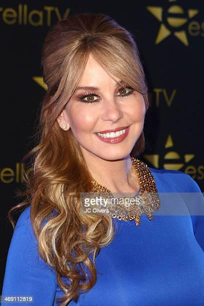 TV personality Myrka Dellanos attends Estrella TV welcoming party for former mayor Antonio Villaraigosa as a new member of Estrella TV at The Conga...