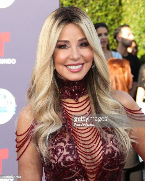 Personality Myrka Dellanos attends the 2018 Latin American Music Awards at Dolby Theatre on October 25 2018 in Hollywood California