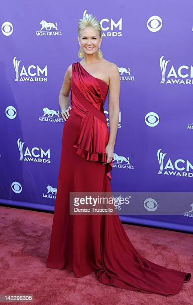 TV personality Nancy O'Dell arrives at the 47th Annual Academy Of Country Music Awards held at the MGM Grand Garden Arena on April 1 2012 in Las...