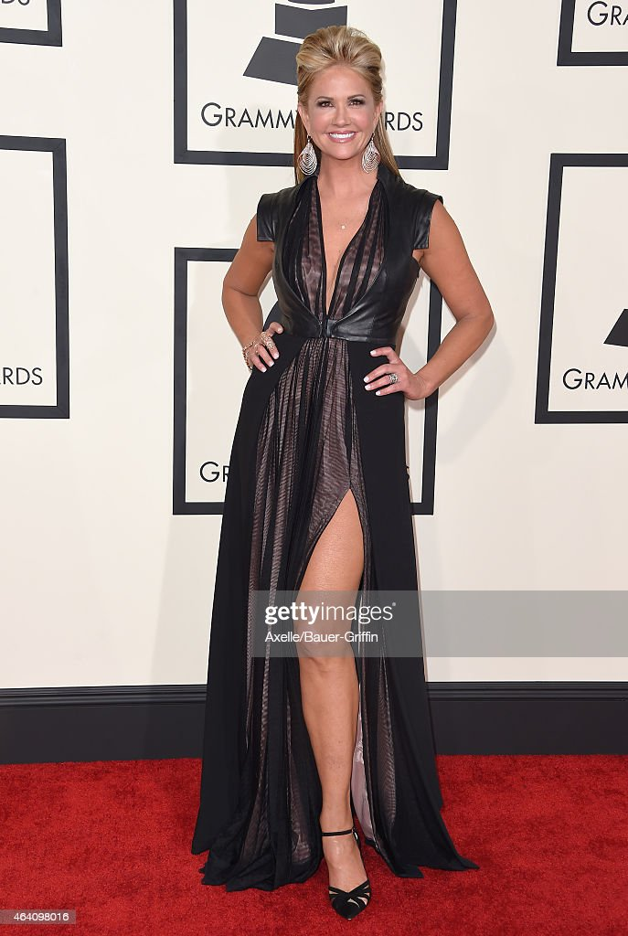 TV personality Nancy O'Dell arrives at the 57th Annual GRAMMY Awards at Staples Center on February 8, 2015 in Los Angeles, California.
