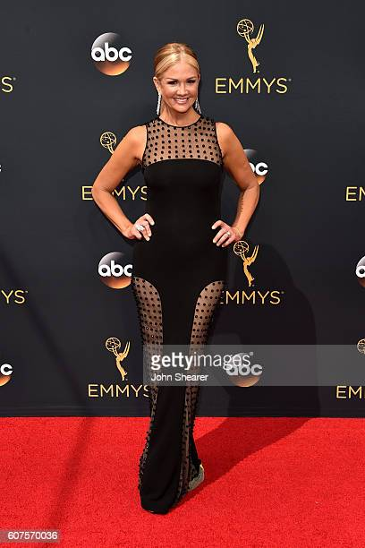 TV personality Nancy O'Dell arrives at the 68th Annual Primetime Emmy Awards at Microsoft Theater on September 18 2016 in Los Angeles California