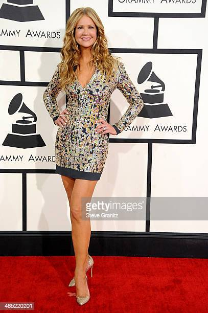 TV personality Nancy O'Dell attends the 56th GRAMMY Awards at Staples Center on January 26 2014 in Los Angeles California