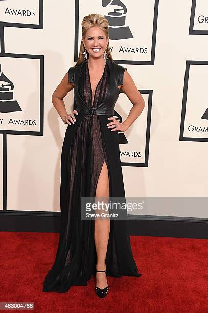 Personality Nancy O'Dell attends The 57th Annual GRAMMY Awards at the STAPLES Center on February 8, 2015 in Los Angeles, California.