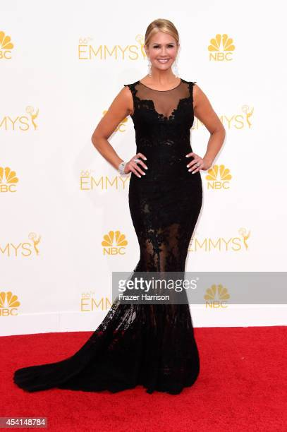 TV personality Nancy O'Dell attends the 66th Annual Primetime Emmy Awards held at Nokia Theatre LA Live on August 25 2014 in Los Angeles California