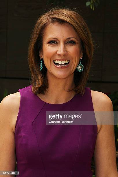TV personality Natalie Barr poses as she attends the Women In Media Christmas Luncheon held at Breezes restaurant Crown Towers on December 6 2012 in...