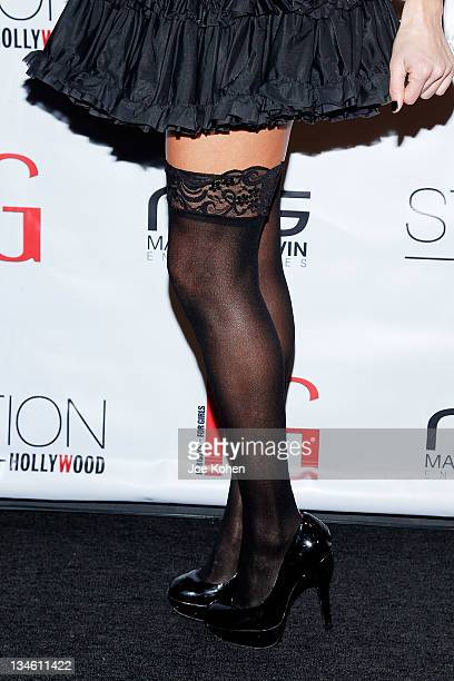 TV personality Natalie Getz at the FG Magazine Holiday Party at W Hollywood on December 2 2011 in Hollywood California