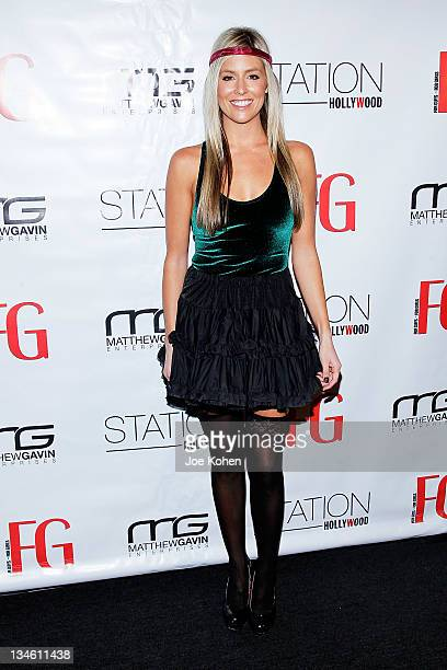 TV personality Natalie Getz attentds FG Magazine Holiday Party at W Hollywood on December 2 2011 in Hollywood California