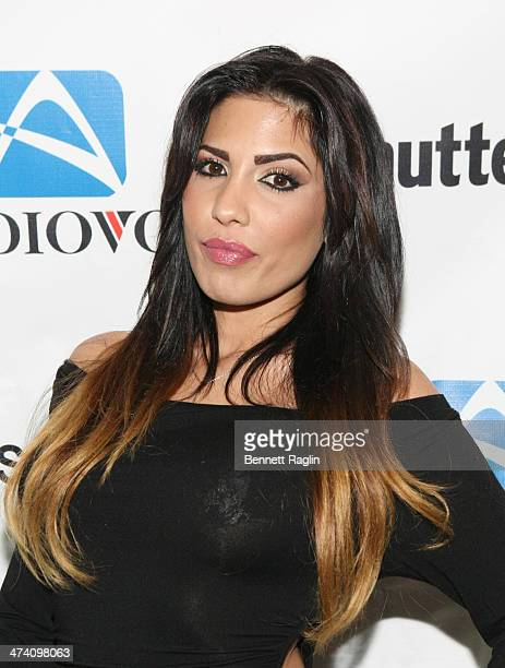 "Personality Natalie Guercio attends Jenni ""JWOWW"" Farley's Birthday Celebration at Drunken Monkey on February 21, 2014 in the Staten Island borough..."