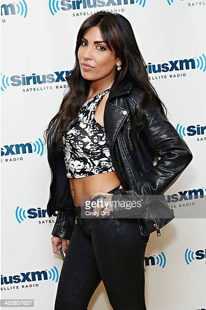 Personality Natalie Guercio visits the SiriusXM Studios on December 5, 2013 in New York City.