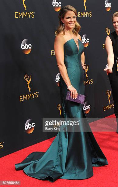TV personality Natalie Morales attends the 68th Annual Primetime Emmy Awards at Microsoft Theater on September 18 2016 in Los Angeles California