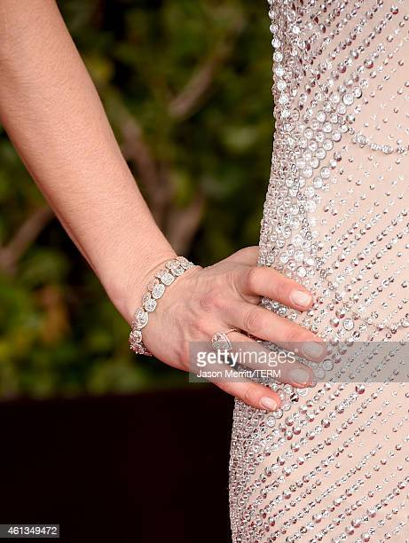 Personality Natalie Morales attends the 72nd Annual Golden Globe Awards at The Beverly Hilton Hotel on January 11 2015 in Beverly Hills California