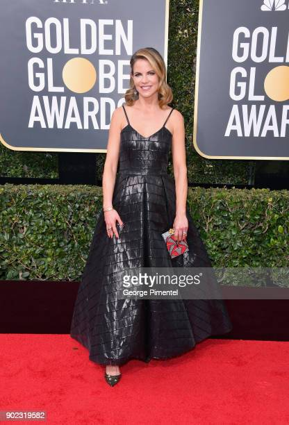 TV personality Natalie Morales attends The 75th Annual Golden Globe Awards at The Beverly Hilton Hotel on January 7 2018 in Beverly Hills California