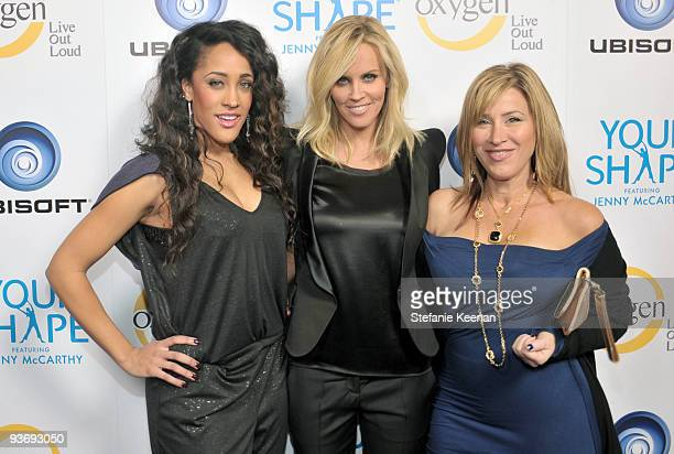 TV personality Natalie Nunn actress Jenny McCarthy and actress Lisa Ann Walter attend the Ubisoft and Oxygen YOUR SHAPE fitness game launch event...