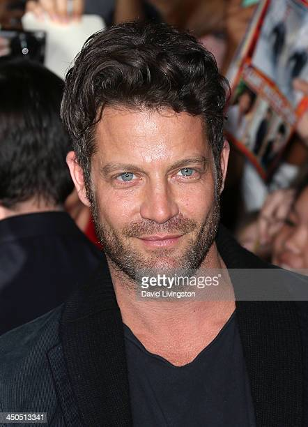 TV personality Nate Berkus attends the premiere of Lionsgate's 'The Hunger Games Catching Fire' at Nokia Theatre LA Live on November 18 2013 in Los...