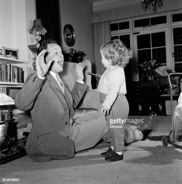 TV Personality Nicholas Parsons and daughter Zuleika 25th February 1960