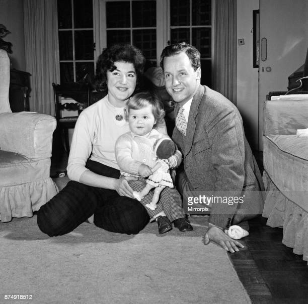 TV Personality Nicholas Parsons his wife Denise and daughter Zuleika 25th February 1960