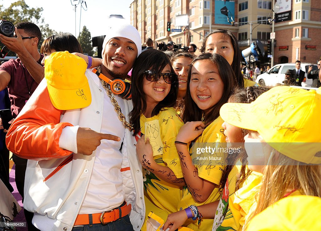 TV personality Nick Cannon arrives at Nickelodeon's 26th Annual Kids' Choice Awards at USC Galen Center on March 23, 2013 in Los Angeles, California.
