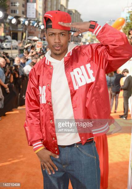 TV personality Nick Cannon arrives at the 2012 Nickelodeon's Kids' Choice Awards at Galen Center on March 31 2012 in Los Angeles California