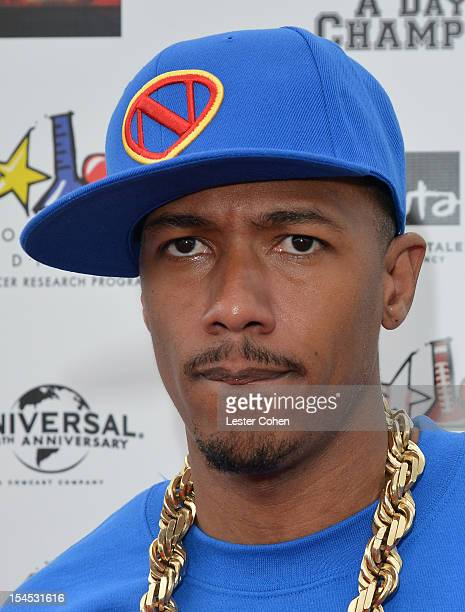 TV personality Nick Cannon arrives for the Bogart Pediatric Cancer Research Program's A Day Of Champions Children's Choice Award presented to Judd...