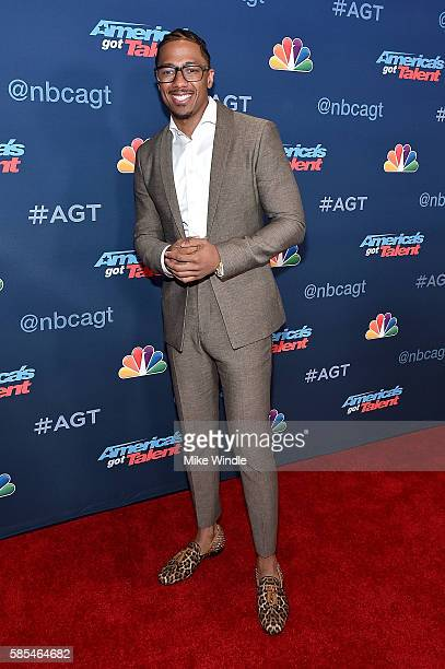 Personality Nick Cannon attends NBC's 'America's Got Talent' Season 11 Live Show at Dolby Theatre on August 2 2016 in Hollywood California