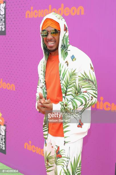 Personality Nick Cannon attends Nickelodeon Kids' Choice Sports Awards 2017 at Pauley Pavilion on July 13, 2017 in Los Angeles, California.