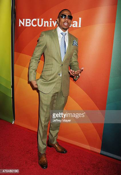 Personality Nick Cannon attends the 2015 NBCUniversal Summer Press Day held at the The Langham Huntington Hotel and Spa on April 02, 2015 in...