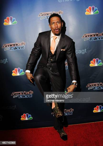 TV personality Nick Cannon attends the 'America's Got Talent' Red Carpet Event at Madison Square Garden on April 4 2014 in New York City