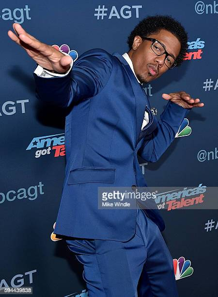 Personality Nick Cannon attends the America's Got Talent Season 11 Live Show at Dolby Theatre on August 23 2016 in Hollywood California
