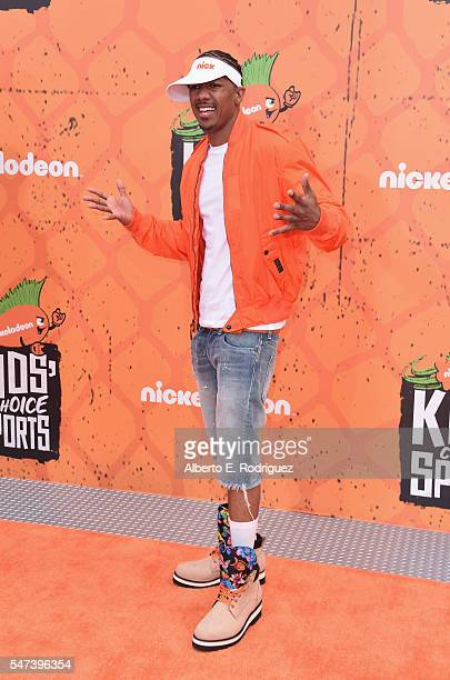 Personality Nick Cannon attends the Nickelodeon Kids' Choice Sports Awards 2016 at UCLA's Pauley Pavilion on July 14, 2016 in Westwood, California.